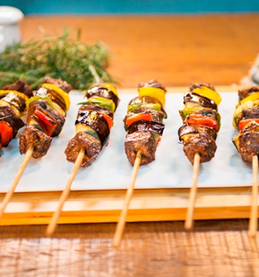 Lamb skewers with mint jelly sweet